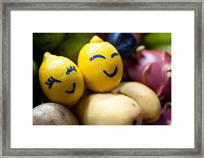 The Smiling Lemons Framed Print