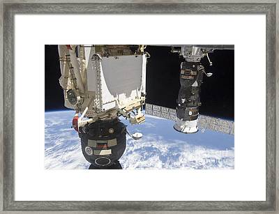 The Soyuz Tma-19 Spacecraft Framed Print