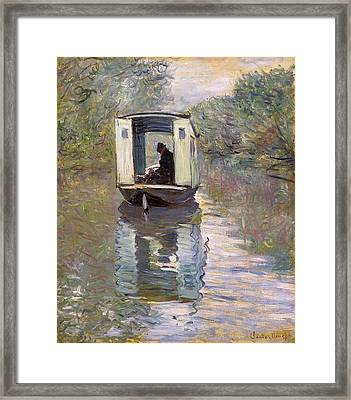 The Studio Boat Framed Print
