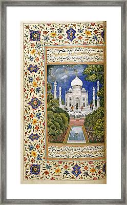 The Taj Mahal Framed Print by British Library