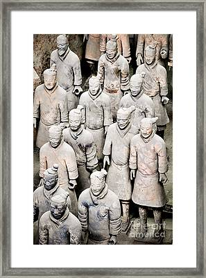 The Terracotta Army Framed Print by Delphimages Photo Creations