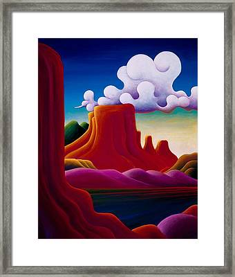 Framed Print featuring the painting The Tomb Lake Powell by Richard Dennis
