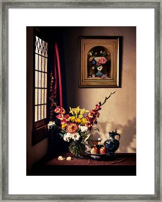 The Van Der Ast Are Visiting Framed Print by Levin Rodriguez