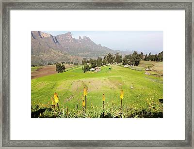 The Village Amiwalka Near Semien Framed Print