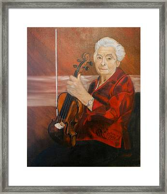Framed Print featuring the painting The Violin by Sharon Schultz