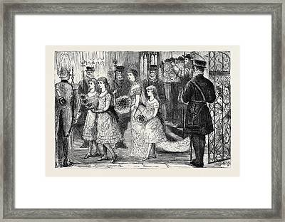 The Wedding Procession In St Framed Print by English School
