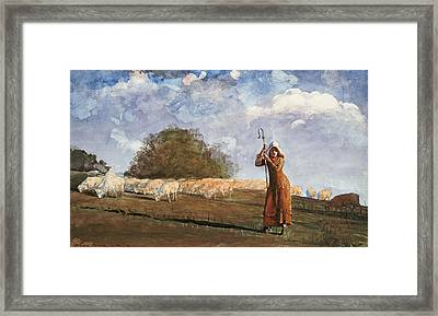 The Young Shepherdess Framed Print by Celestial Images