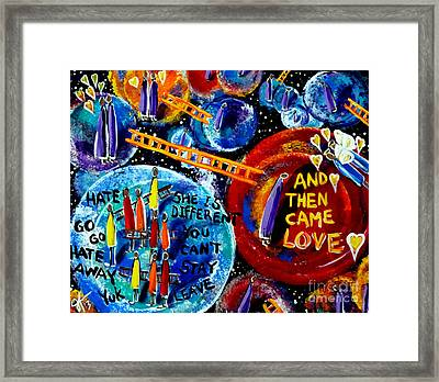 Framed Print featuring the painting Then Came Love by Jackie Carpenter