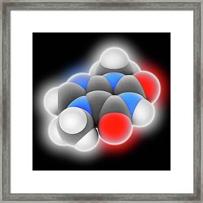Theobromine Molecule Framed Print