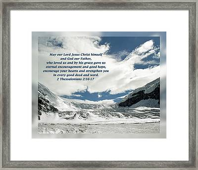 2 Thessalonians 2 16-17 Framed Print by Dawn Currie