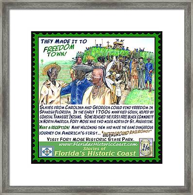 They Made It To Freedom Town Framed Print by Warren Clark