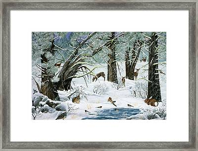 They Said It Wouldn't Snow Framed Print