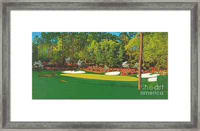 Thirteenth At Augusta Framed Print by L J Oakes