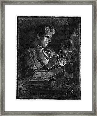 Thomas Alva Edison (1847-1931) Framed Print by Granger