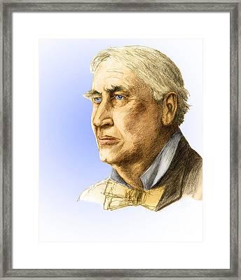 Thomas Edison, American Inventor Framed Print
