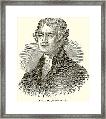 Thomas Jefferson Framed Print by English School