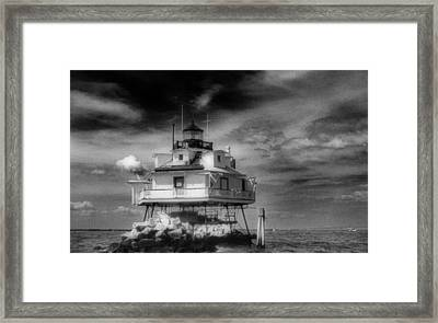 Thomas Point Shoal Lighthouse Framed Print by Skip Willits