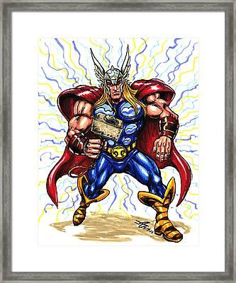 Thor  Framed Print by John Ashton Golden
