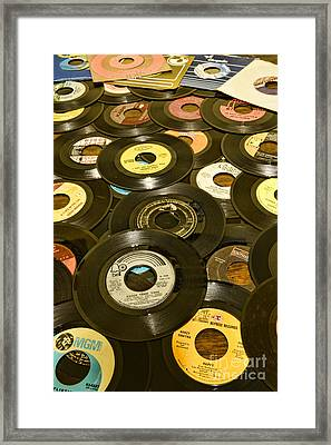 Those Old 45s Framed Print by Paul Ward