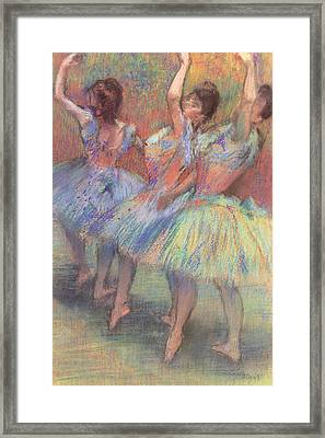 Three Dancers Framed Print by Edgar Degas