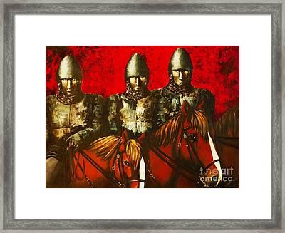 Three Knights Framed Print