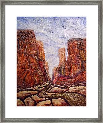 Through The Maze Framed Print by Jan Reid