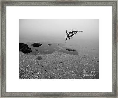 Framed Print featuring the photograph Tidal Trap by Robert Riordan