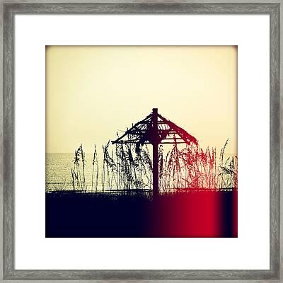 Tiki At Sunset Framed Print