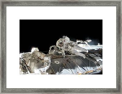 Tim Peake's Spacewalk Framed Print