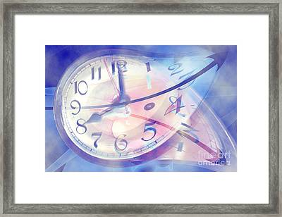 Time Line Split In Two, Conceptual Framed Print