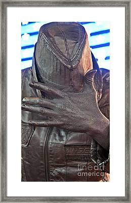 Framed Print featuring the photograph Tin Man In Times Square by Lilliana Mendez