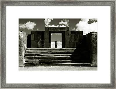 Framed Print featuring the photograph Tiwanaku by Amarildo Correa