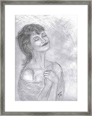 Framed Print featuring the drawing To Hope by Desline Vitto