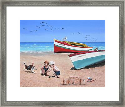 To The Rescue Framed Print by Wilfrido Limvalencia