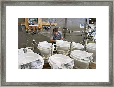 Toilet Factory Framed Print by Jim West