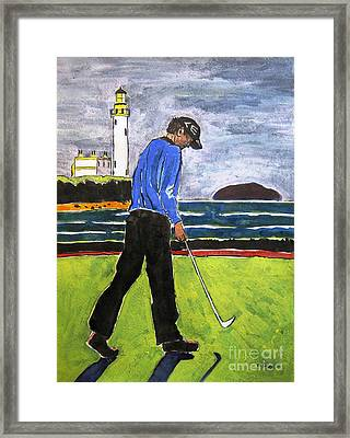 Tom Watson Turnberry 2009 Framed Print by Lesley Giles