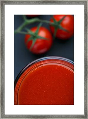 Tomato Juice Framed Print by Nailia Schwarz