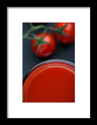 Cherry Tomato Framed Prints