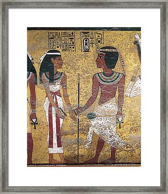 Tomb Of Tutankhamun. S.xiv Bc. Egypt Framed Print by Everett
