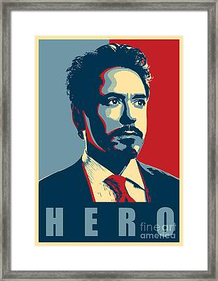 Tony Stark Framed Print