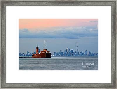 Toronto At Dusk Framed Print