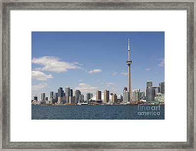 Toronto City Skyline Framed Print