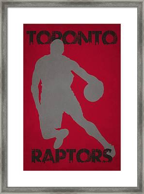 Toronto Raptors Framed Print by Joe Hamilton