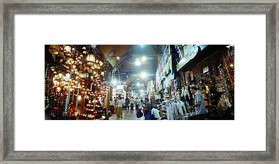 Tourists In A Market, Grand Bazaar Framed Print by Panoramic Images