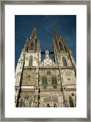 Towers Of St Peter's Cathedral In Old Framed Print