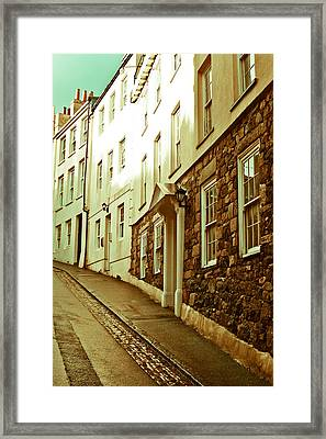 Town Houses Framed Print by Tom Gowanlock