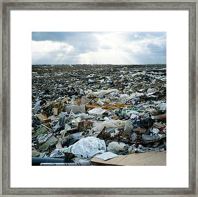 Toxic Waste Dump Framed Print by Robert Brook/science Photo Library