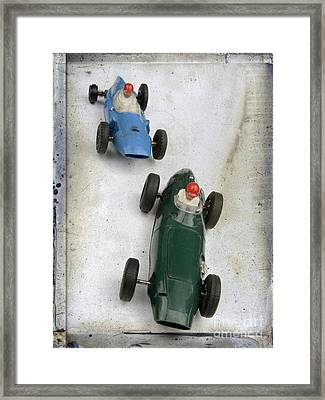Toy Race Cars Framed Print by Bernard Jaubert
