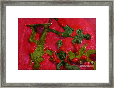 Toy Soldiers In A Pool Of Blood Framed Print by Amy Cicconi