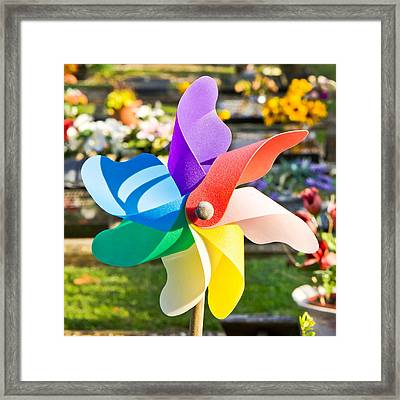 Toy Windmill Framed Print by Tom Gowanlock